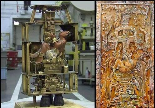 King Pakal's Spaceship The Ancient Mayan Astronaut Palenque astronaut pacal astronauta antigo